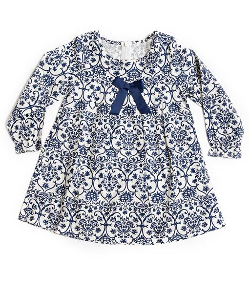 Blomstret blå kjole