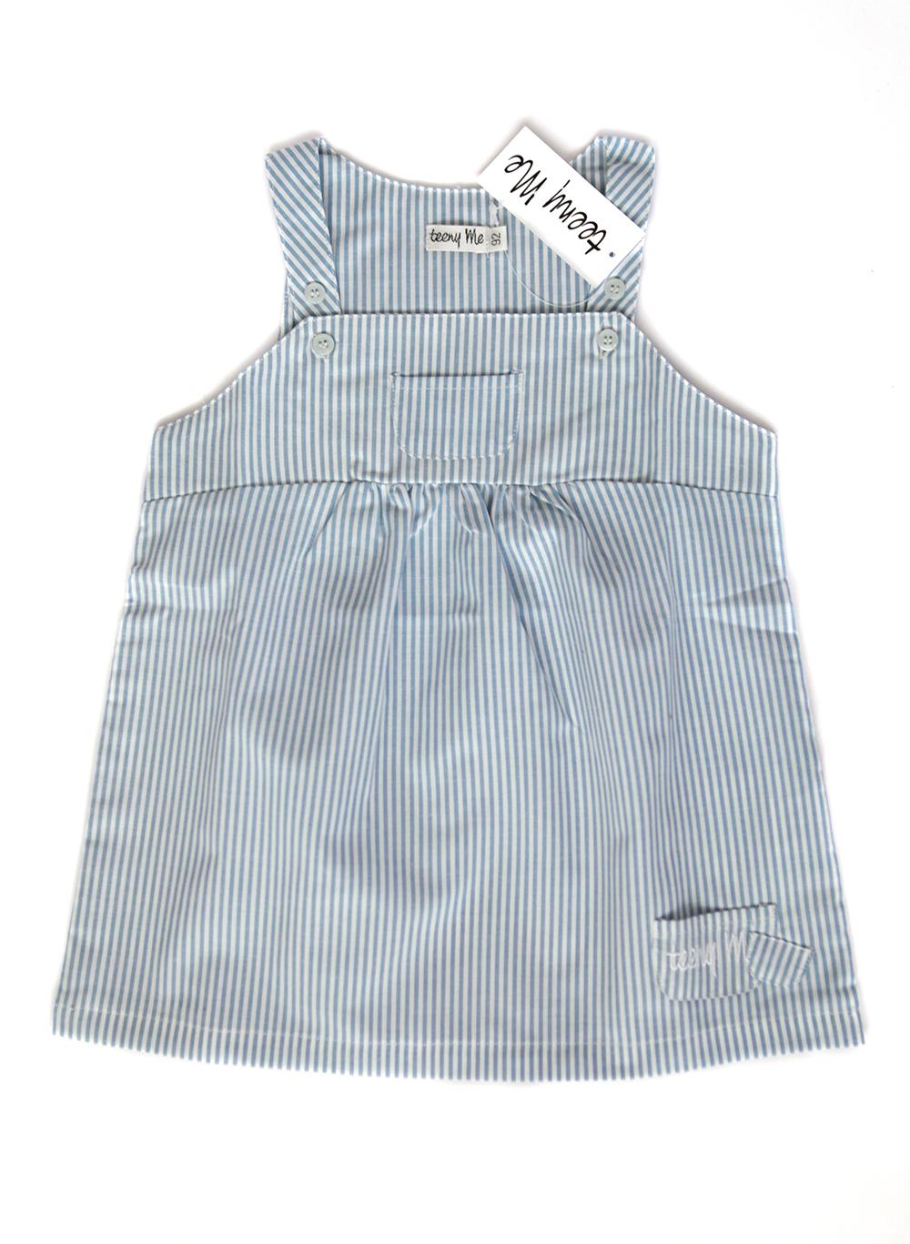stripet kjole blå hvit web