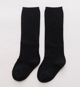 Svarte sorte knestrømper mønster